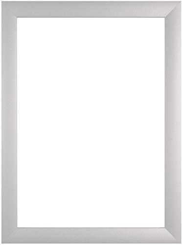 EUROLine35 mm Bilderrahmen für 60 x 42 cm Bilder, Farbe: Silber Matt, inkl. entspiegeltem Acrylglas und MDF Rückwand, Rahmen Breite: 35 mm, Außenmaß: 65,8 x 47,8 cm