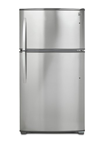 Kenmore Top-Freezer Refrigerator with Ice Maker and 21 Cubic Ft. Total Capacity, Stainless Steel