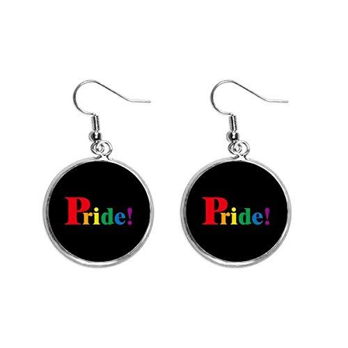 Pride LGBT Regenboog Homo Oor Dangle Zilver Drop Oorbel Sieraden Vrouw