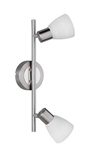 Trio Leuchten LED-Balken Carico, nickel matt / chrom, Glas weiß gewischt 871510207