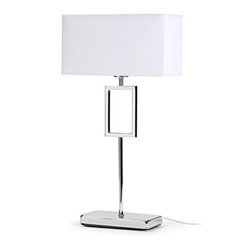 Mathias ILA5195142 Lampe à Poser, Métal, E14, 40 W, Blanc