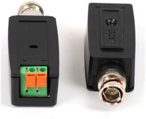 VideoSecu One Pair of Mini CCTV Secutiy Camera Passive Video Balun Cat5 Cable Network Transceiver W20