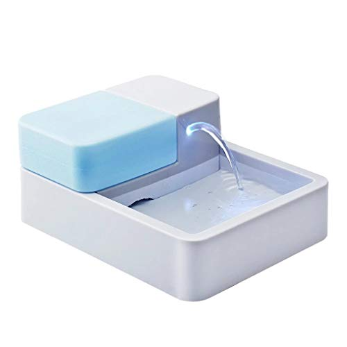AIOEJP Wasserspender für Katzen Trinken, mit LED-Licht UV-Katzenwasserbrunnen Silent Filter Core Cotton Energy Saving Non-Slip
