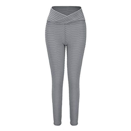 Dames Hoge Taille Yoga Broek Leggings,Bubble Net Snel Rijden Jacquard Buikcontrole Joggingbroek Voor À L'extérieur