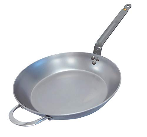 De Buyer MINERAL B Round Carbon Steel Fry Pan, 12.5 inches