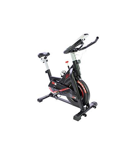 Grupo K-2 Riscko | Bicicleta Spinning MOD707 Saona | con Volante De Inercia 24 Kg Cuadro de Acero, Manillar Ergonómico, Pulsómetro Integrado, Pedales Antideslizantes