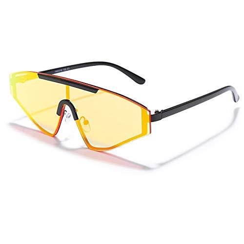 ZAQXSW Nuevo sin Montura de Gafas de Sol de Las Mujeres cuadradas 2020 del gradiente del rectángulo Gafas de Sol de Moda de los Hombres de Gran tamaño Gafas de Sol (Color : Style C)
