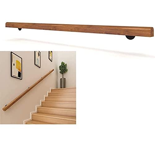 Mastillas de madera antideslizantes de 1FT-20FT para escaleras de interior, barra de agarre de la escalera sin barreras para ancianos, pasamanos de pino anti de patín, casas montadas en la pared Corre