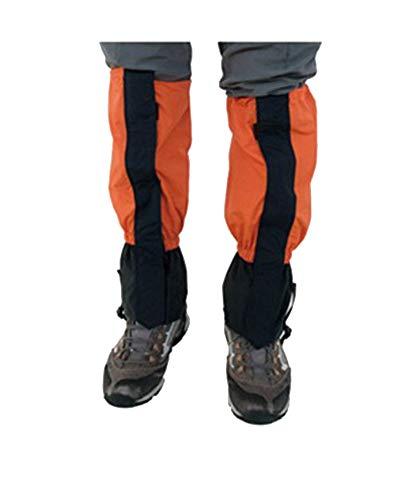 YAOTT 1 par Polainas Impermeables de Invierno Cubierta de Zapatos Deportivos al Aire Libre para Escalada Senderismo para niños/Adultos Orange