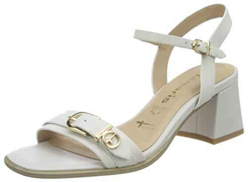 Tamaris Damen Sandalette 1-1-28010-26 100 weiß normal Größe: 38 EU