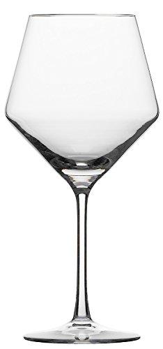 Schott Zwiesel 112943 Serie Pure 2-teiliges Burgunder Rotweinglas Set, Kristallglas