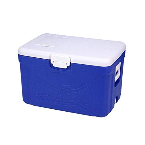 Plastic koelbox, auto lading weghalen voedsel levering gemakkelijk te dragen koelbox blauw outdoor camping camping koelbox voor lunch