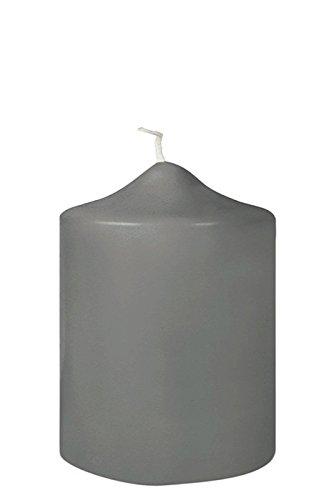 Fink Candle/Stumpenkerze,d-grau,getaucht/H.10cm,D.8cm
