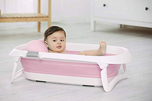 JF Mall Folding Portable Baby Bathtub (Pink)
