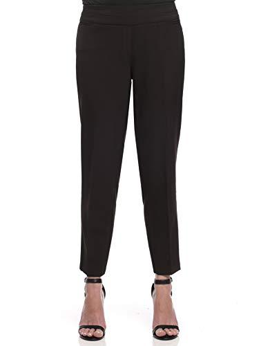 Zac & Rachel Women's Bond 18 Pull-On Slim Leg Ankle Pants, Black, 8