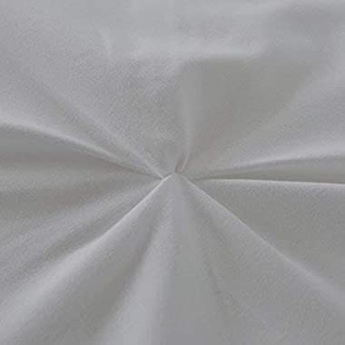 AP Beddings- Luxurious 1 Piece Pinch Pleated Duvet Cover - 600 Thread Counts - 100% Egyptian Cotton (Twin-XL Size, Light Grey