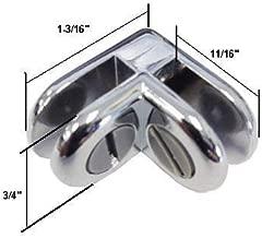 Chrome 2-Way Metal Glass Display Connector