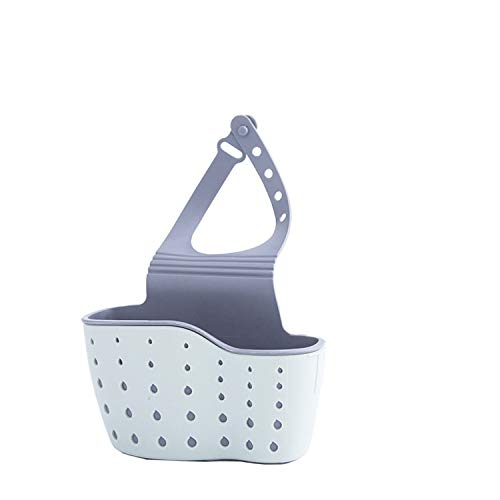 Aidou Bolsa de almacenamiento de drenaje para fregadero de cocina, cesta ajustable, bolsa de almacenamiento para fregadero, accesorios de cocina