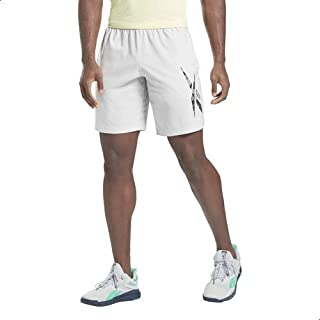 Reebok Workout Ready Graphic Front Logo Elastic Waist Shorts for Men