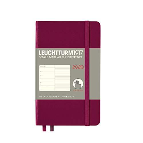 Wochenkalender & Notizbuch 2020 Softcover Pocket (A6), 12 Monate, Port Red, Englisch