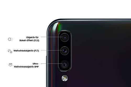 Samsung Galaxy A50 Smartphone (16.3cm (6.4 Zoll) 128GB interner Speicher, 4GB RAM, Schwarz) - Deutsche Version