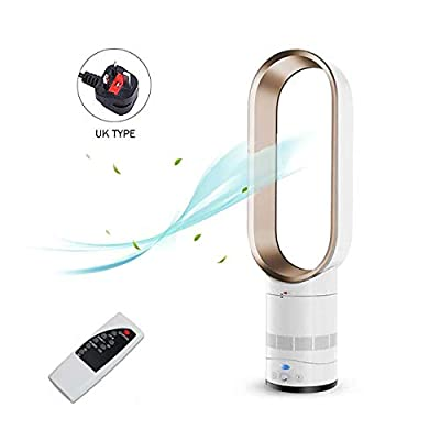 EZSMART Bladeless Fan, 25.6 inch Negative Ions Safety Air Cooler Leafless Fan, Floor-standing Remote Control Air Multiplier Tower Fan for Home, Office, Bedroom