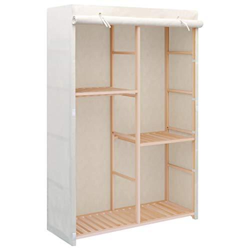 vidaXL Kleiderschrank mit 3 Ebenen 110x40x170cm Garderobenschrank Stoffschrank