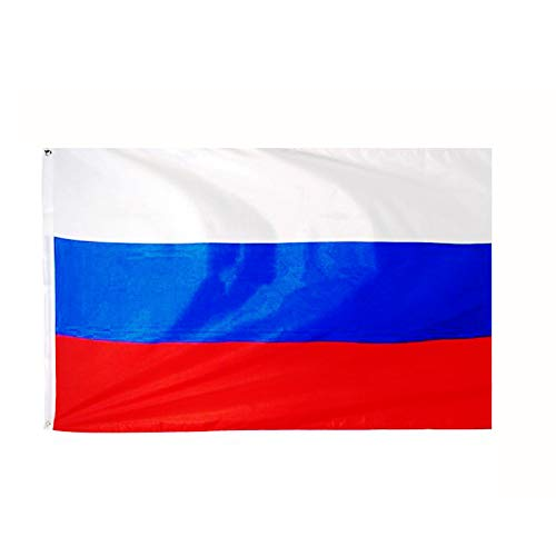 ANJOR Russia Flag 3x5 Foot Russian National Flags Polyester with Brass Grommets 3 X 5 Ft