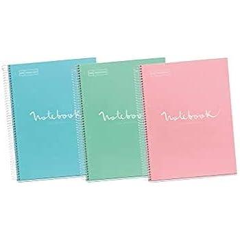 Miquelius – Confezione di 3 quaderni A4 a quadretti Emotions Pastello
