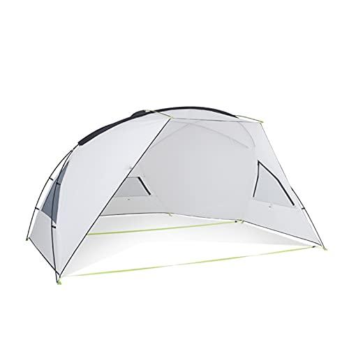 YSJJYQZ Tienda de campaña Toldo Impermeable Tarpa Tienda Tienda Shade Ultralight Jardín Canopy Sombrilla Al Aire Libre Camping Hamaca Lluvia Fly Beach Sun Shelte (Color : White)