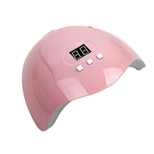 Lámpara UV 54W Lámpara de uñas Secadora Máquina de fototerapia Esmalte de uñas Pegamento Plus Lámpara Secadora UV Pegamento Curing Lámpara (Color : Red)