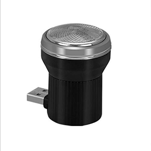 Shiningxie 2PCS électrique USB Rasoir Mini Portable Plug in Voyage Razor Nouveau (Blanc) (Color : Black)