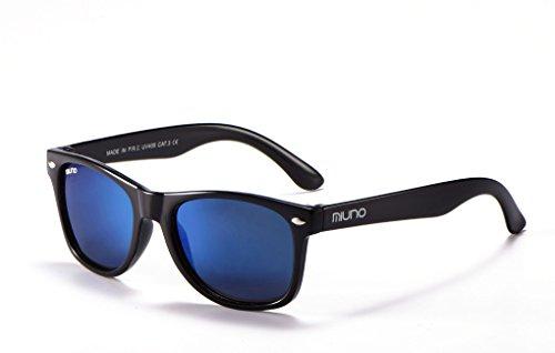 Miuno® Kinder Sonnenbrille Polarisiert Polarized Etui 6833 (Hellblauverspiegelt)