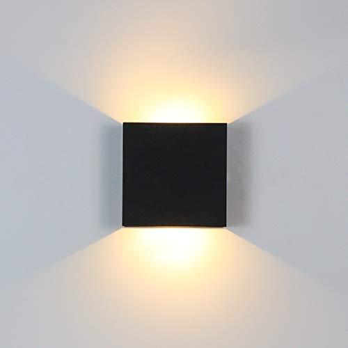 RAQ 6w Up Down Dimbare aluminium wandlamp vierkante LED wandlamp voor slaapkamer slaapkamer woonkamer gang naast verlichting dimbaar zwart