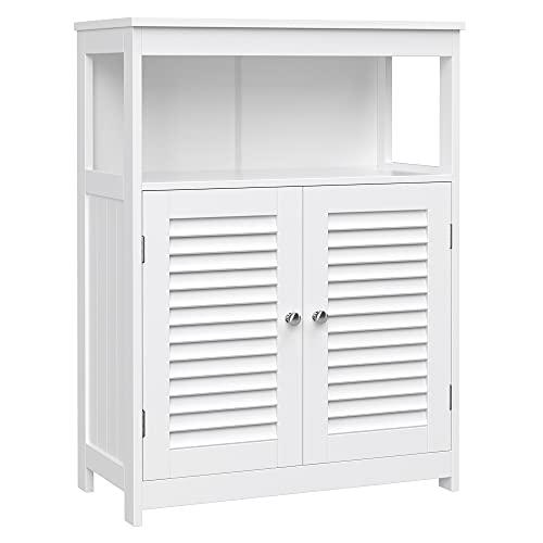 VASAGLE Mueble de Baño Auxiliar, Armario para Baño, Organizador con 2...