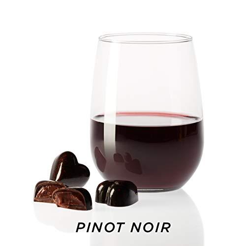 KOHLER Original Recipe Chocolates Love Collection Wine Inspired Dark Chocolate Hearts 9 Piece Great Gift Box