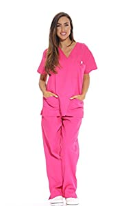 ALL DAY COMFORT: These medical scrubs for women feel soft on the skin, are comfortably roomy, and are designed with a functional drawstring and elastic band for a great fit at the hips. GREAT QUALITY SCRUBS: We've used a high quality blend of 55% cot...
