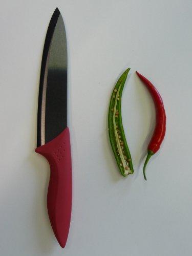 point-home Keramikmesser Universalmesser Kochmesser Messer mit 200mm Klinge rot
