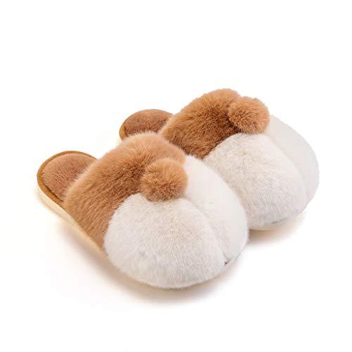 Zapatillas de Casa Hip Corgi Felpa de algodón Zapatillas Mujer Otoño e Invierno Calor Cubierta Linda Inicio Inicio Pareja Zapatillas Antideslizantes Zapatillas (Color : A, Size : 43-44)