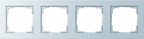 Gira 2028533 frame 021425 4-voudig E2 kleur aluminium, aluminium