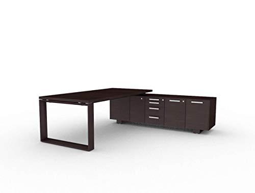 Bralco Schreibtisch mit Sideboard Arche, Design Büromöbel, Chefschreibtisch, Chefbüro, italienische Designermöbel