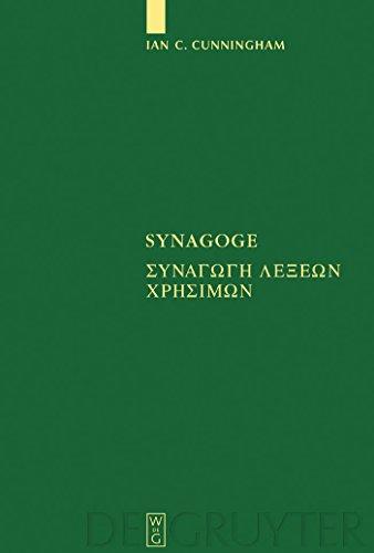 Synagoge: [Synagoge lexeon chresimon] Texts of the Original Version and of MS. B (Sammlung griechischer und lateinischer Grammatiker Book 10) (English Edition)