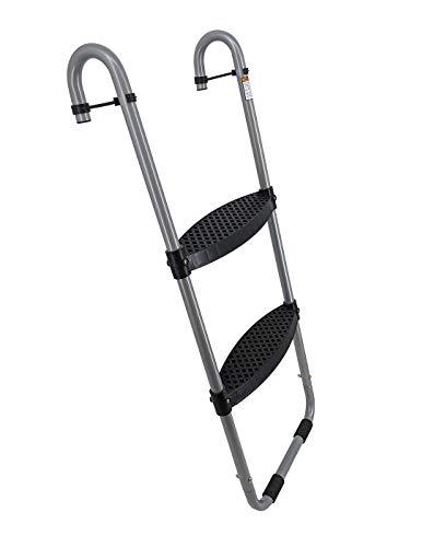 Wide 2-Step Trampoline Ladder   Safety-Latch   No Slip   Cooler Surface   [Lifetime Parts Warranty]