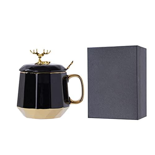 zunruishop Taza de café de té Taza de cerámica de cerámica para café, Taza de café Delicada Taza de Taza, y Bebidas reflexionadas, Pareja de Gafas para Beber con Caja de Regalo Taza de té