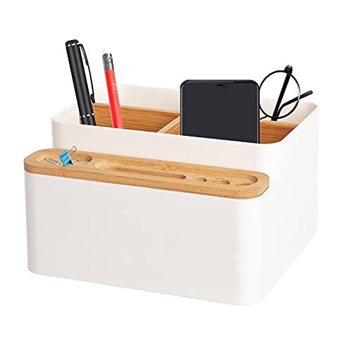 Holz Desktop Stift,Holz Desktop Fernbedienungshalter,Holz Desktop Organizer,Desktop Stationery Storage Box,Bambus Tisch Organizer,Schreibtisch Organizer,Desktop Mehrzweck Aufbewahrungsbox,8 fächer