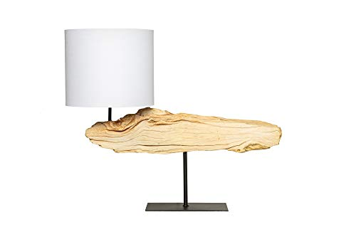 DuNord Design tafellamp beige katoen natuur drijfhout 70cm