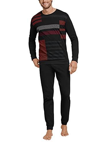 Schiesser Herren Langer Schlafanzug Pyjama Lang - 168238, Größe Herren:54, Farbe:Mehrfarbig 2