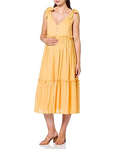 ONLY Damen MLEVELYN LIA S/L Woven AL Dress 2F A. Kleid, Golden Apricot, XL