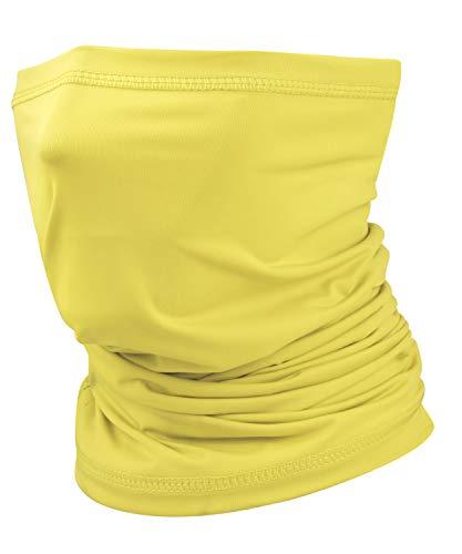 Ice Silk Cooling Neck Gaiter Bandana Mask Face Scarf Balaclava for Men & Women Yellow