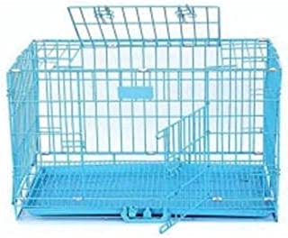 Lovely PET'S Kingdom-Double Door Folding Metal cage with Removable Tray and paw Protector for Dogs,Cats and Rabbits 36 inc...